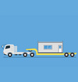 side view of trailer transporting container vector image