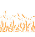silhouette wheat silhouette wheat in vector image vector image