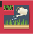 simple things - watering vector image