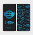 sketch - logo seafood vector image vector image