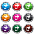 speech bubble on phone set 9 collection vector image