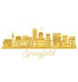 springfield illinois usa city skyline golden vector image vector image
