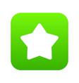 star icon digital green vector image