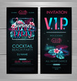 summer cocktail party typography poster vector image