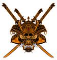 tiger samurai vector image vector image