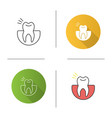toothache icon vector image vector image