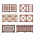 various fences on the white vector image
