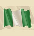 vintage nigeria flag vector image