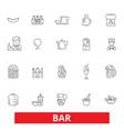 bar cafe beer pub drinking eating restaurant vector image