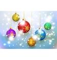 Christmas balls background vector image
