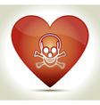 00217-heart-skull vector image