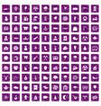 100 lumberjack icons set grunge purple vector image vector image