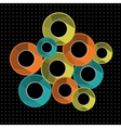 Abstract background with colorful rings vector image vector image