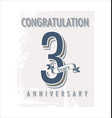 anniversary banner collection 3 years vector image vector image