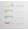 Arrows infographic elements vector image