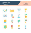 award and trophy icons flat design collection 43 vector image vector image