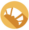 bread croissant icon with a long shadow vector image