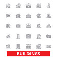 buildings houses city architecture vector image vector image