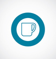 coffee cup icon bold blue circle border vector image