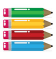 color pencil in a flat style vector image vector image