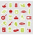 cooking stickers vector image vector image