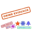 Crime Evidence Rubber Stamp vector image vector image