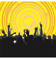 Crowd at a Concert 3 vector image vector image