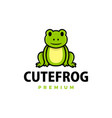 cute frog cartoon logo icon vector image vector image