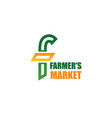 farmers market icon vector image