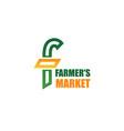 farmers market icon vector image vector image