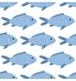 fish seamless pattern nature and marine theme vector image vector image