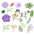 flower graphic design set of floral vector image vector image