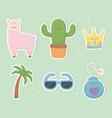 funny fantasy set kawaii characters vector image vector image
