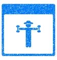 Gentleman Fitness Calendar Page Grainy Texture vector image vector image