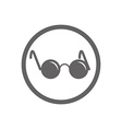 Glasses with black round lenses icon isolated vector image