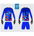 goalkeeper jersey or soccer kit mockup templete vector image
