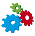 growing gears vector image