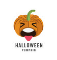 halloween pumpkin emoji emoticonisolated on white vector image vector image