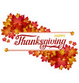 hand drawn happy thanksgiving lettering banner vector image vector image