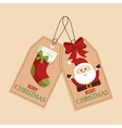 happy merry christmas socks vector image