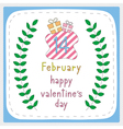 Happy valentine s day card5 vector image vector image