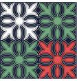 hawaiian quilt pattern vector image vector image