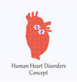 human heart filled with puzzle pattern vector image vector image