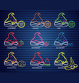 ice cream topings neon set collection delicious vector image vector image