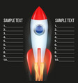 infographic with rocket vector image vector image