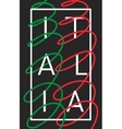 Italy Italia graphic typography design vector image