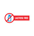 lactode free - icon on white background vector image