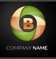letter b logo symbol in the colorful triangle on vector image vector image