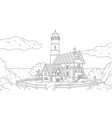 lighthouse sea vector image