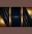 luxury dark background with golden lines vector image vector image